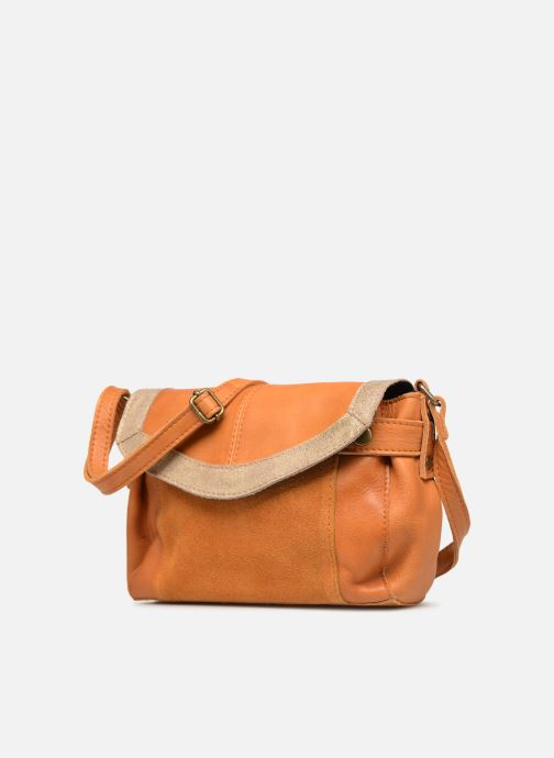 Sacs à main Pieces ISAURA LEATHER SMALL CROSSBODY Marron vue portées chaussures
