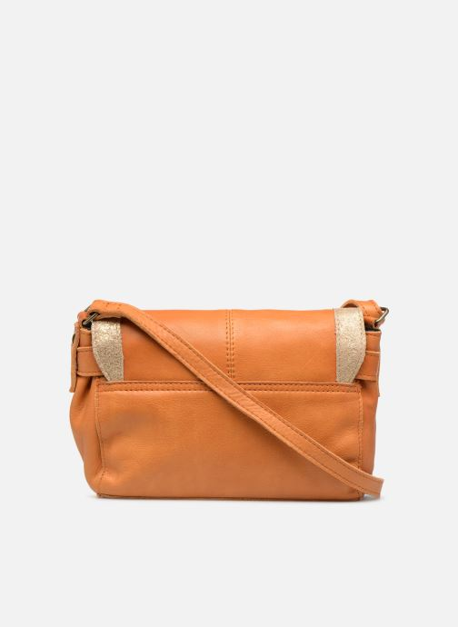 Sacs à main Pieces ISAURA LEATHER SMALL CROSSBODY Marron vue face