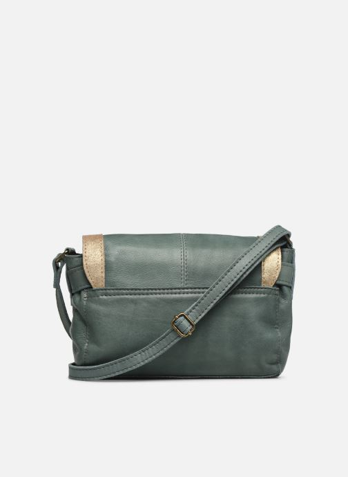 Handbags Pieces ISAURA LEATHER SMALL CROSSBODY Green front view