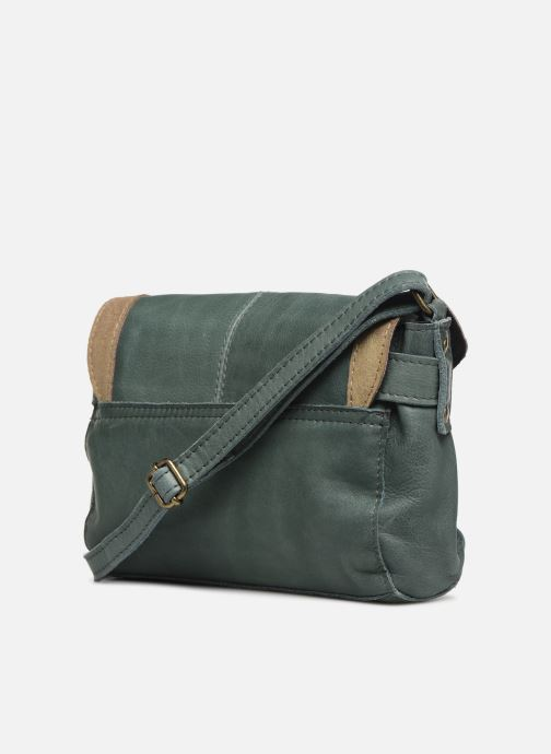 Bolsos de mano Pieces ISAURA LEATHER SMALL CROSSBODY Verde vista lateral derecha