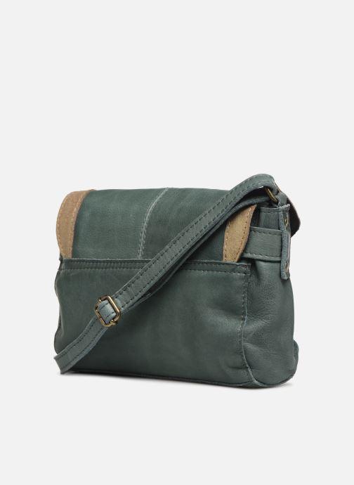 Handtaschen Pieces ISAURA LEATHER SMALL CROSSBODY grün ansicht von rechts