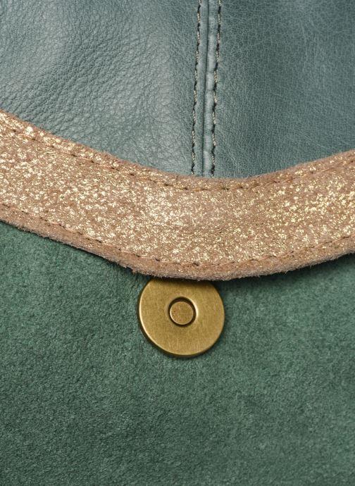Handtaschen Pieces ISAURA LEATHER SMALL CROSSBODY grün ansicht von links