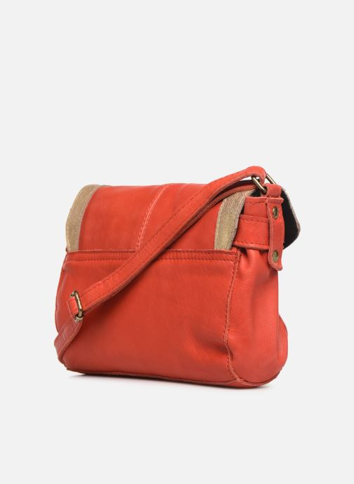 Bolsos de mano Pieces ISAURA LEATHER SMALL CROSSBODY Rosa vista lateral derecha