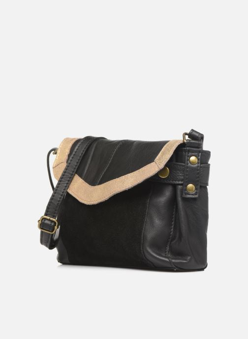 Bolsos de mano Pieces ISAURA LEATHER SMALL CROSSBODY Negro vista del modelo