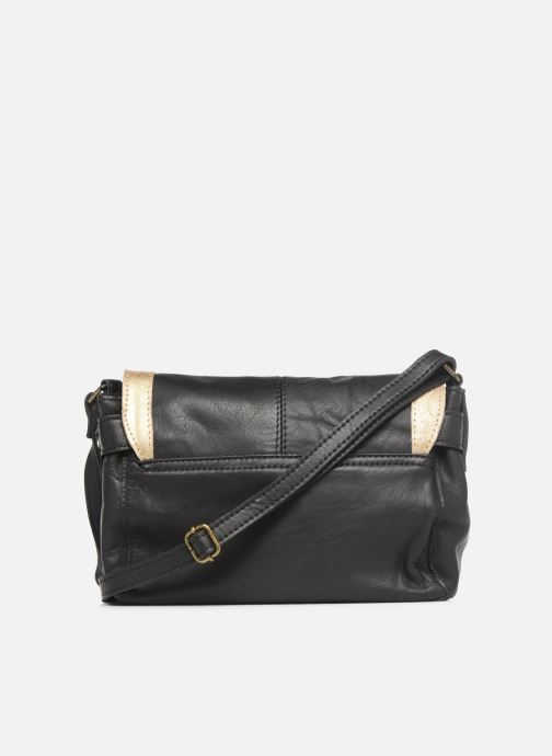 Bolsos de mano Pieces ISAURA LEATHER SMALL CROSSBODY Negro vista de frente