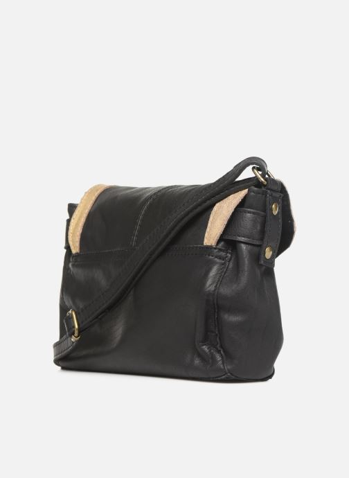 Bolsos de mano Pieces ISAURA LEATHER SMALL CROSSBODY Negro vista lateral derecha