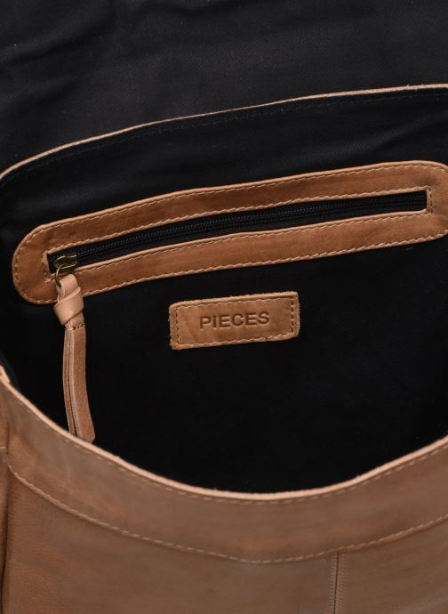 Handtassen Pieces FRANCES LEATHER LARGE CROSSBODY Bruin achterkant