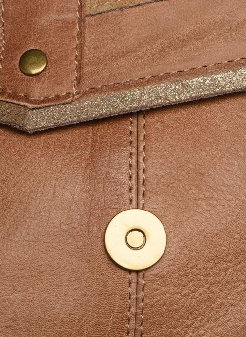 Handväskor Pieces FRANCES LEATHER LARGE CROSSBODY Brun bild från vänster sidan