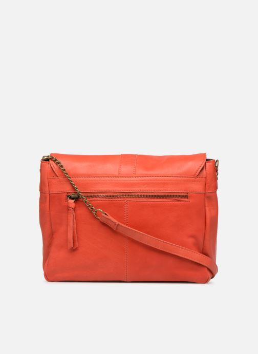 Handbags Pieces FRANCES LEATHER LARGE CROSSBODY Pink front view