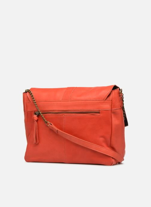 Bolsos de mano Pieces FRANCES LEATHER LARGE CROSSBODY Rosa vista lateral derecha