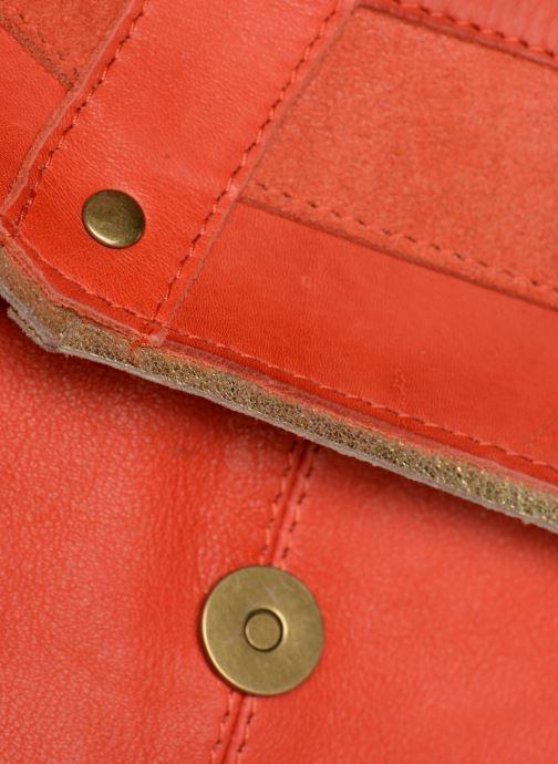 Bolsos de mano Pieces FRANCES LEATHER LARGE CROSSBODY Rosa vista lateral izquierda
