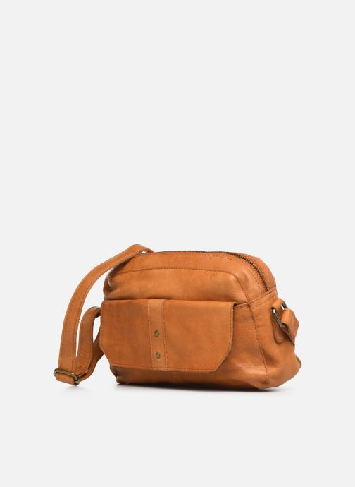 Sacs à main Pieces BROOKE LEATHER SMALL CROSCCBODY Marron vue portées chaussures