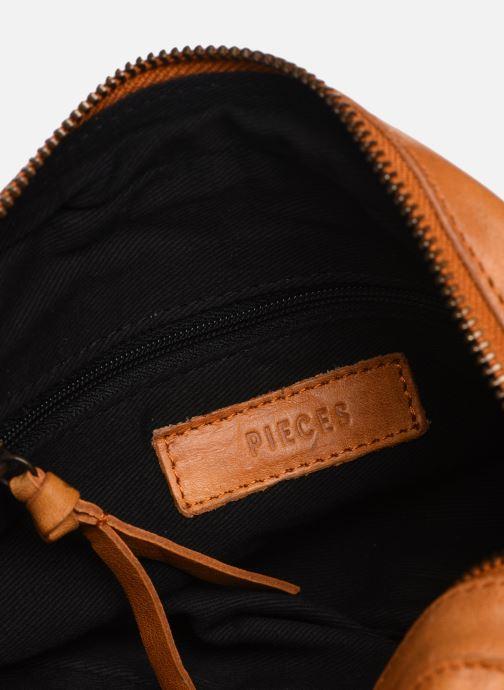 Handtassen Pieces BROOKE LEATHER SMALL CROSCCBODY Bruin achterkant