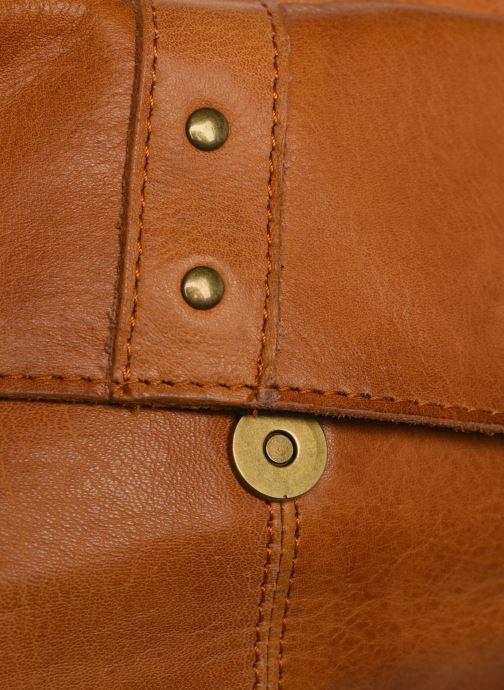 Handtassen Pieces BROOKE LEATHER SMALL CROSCCBODY Bruin links