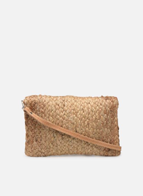 Handtassen Pieces BECKY STRAW CROSSBODY Beige voorkant