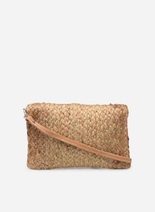 Bolsos de mano Pieces BECKY STRAW CROSSBODY Beige vista de frente