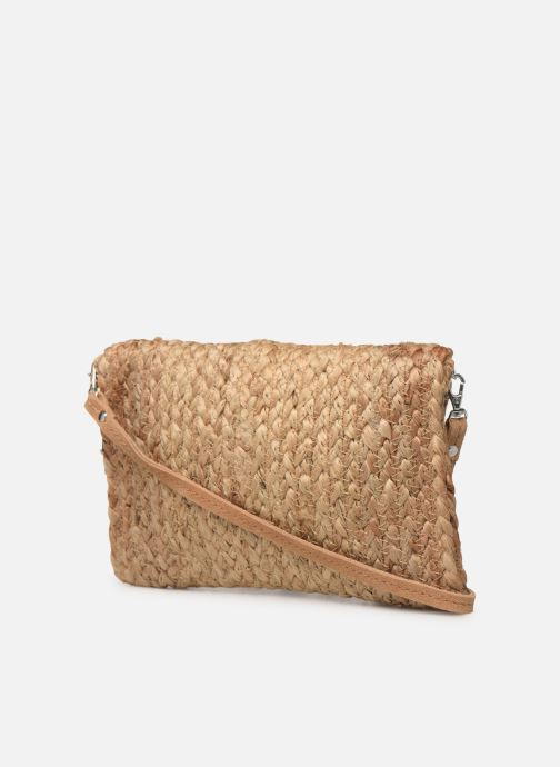 Bolsos de mano Pieces BECKY STRAW CROSSBODY Beige vista lateral derecha