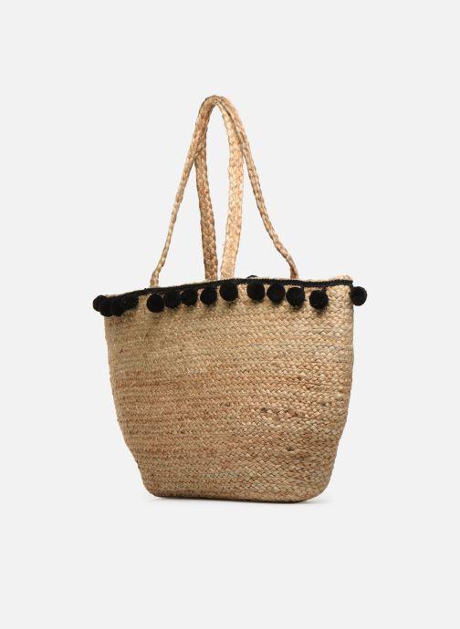 Handtaschen Pieces BECKA STRAW BAG beige schuhe getragen