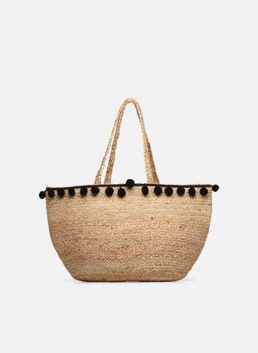 Handtaschen Pieces BECKA STRAW BAG beige ansicht von vorne