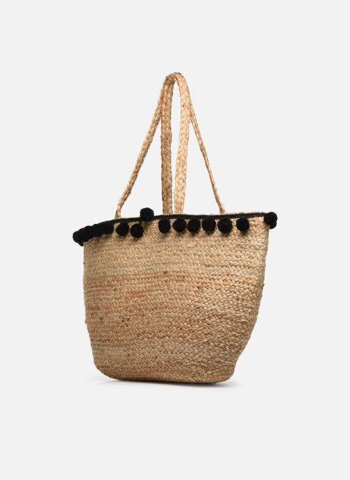 Handtaschen Pieces BECKA STRAW BAG beige ansicht von rechts