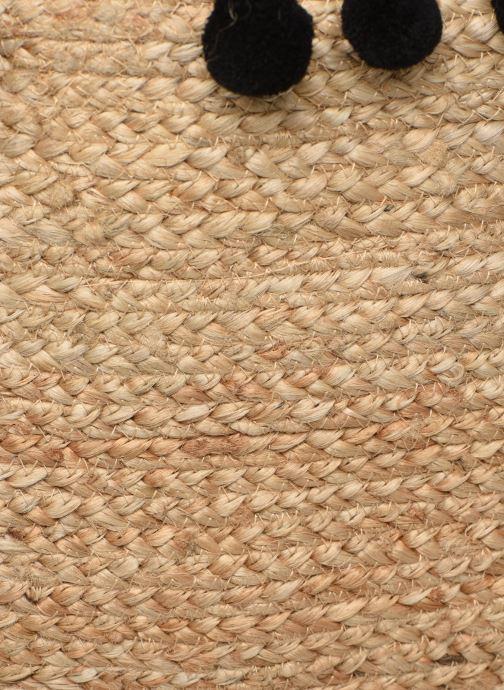 Bolsos de mano Pieces BECKA STRAW BAG Beige vista lateral izquierda