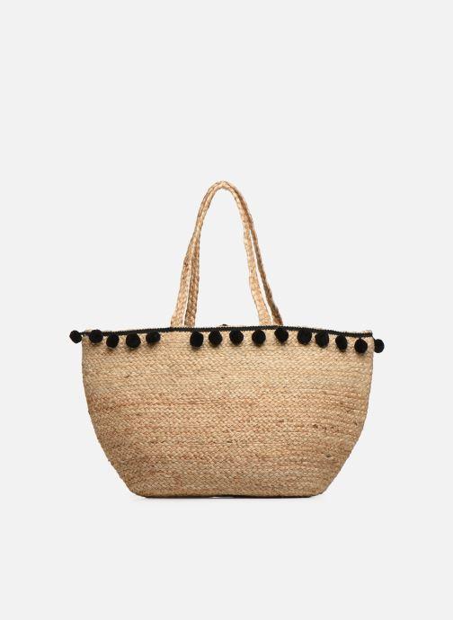 Handtaschen Pieces BECKA STRAW BAG beige detaillierte ansicht/modell