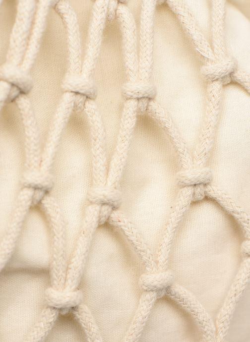 Bolsos de mano Pieces BEVERLY CROCHET NET Beige vista lateral izquierda