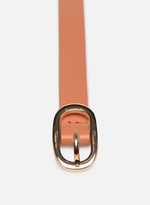 Cinture Pieces Ana Leather Jeans Belt Marrone modello indossato