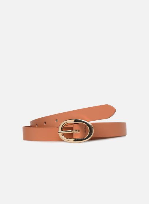 Cinturones Pieces Ana Leather Jeans Belt Marrón vista de detalle / par