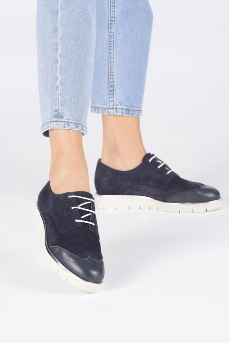 Chaussures à lacets Georgia Rose Radhia soft Bleu vue bas / vue portée sac