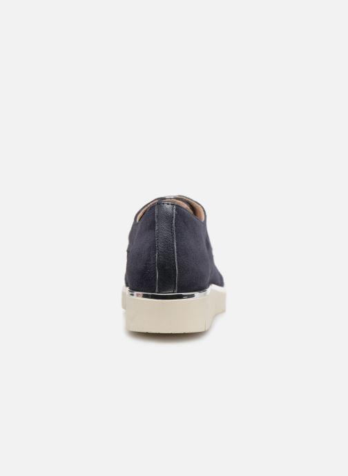Snörade skor Georgia Rose Radhia soft Blå Bild från höger sidan