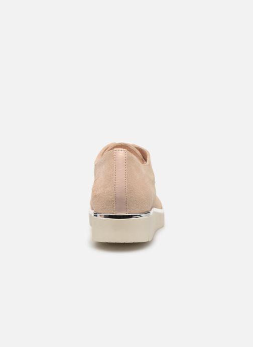 Snörade skor Georgia Rose Radhia soft Beige Bild från höger sidan