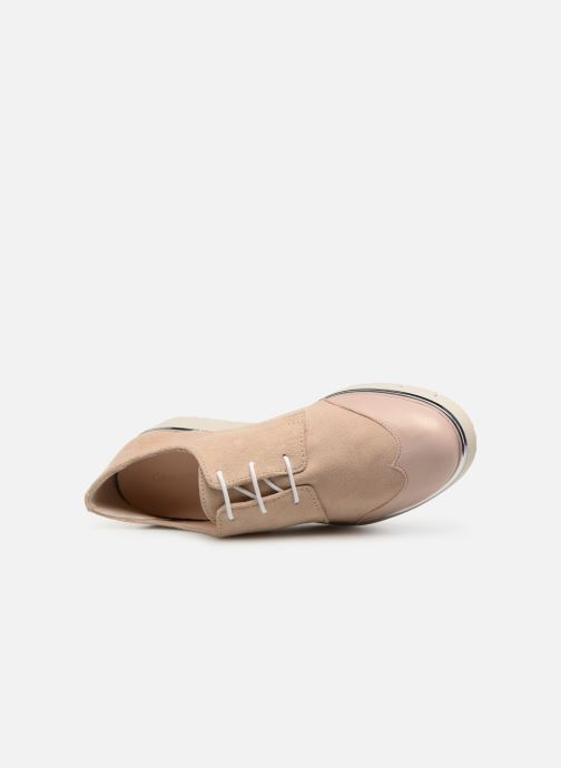 Zapatos con cordones Georgia Rose Radhia soft Beige vista lateral izquierda
