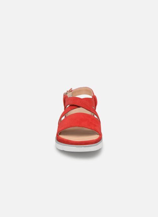 Sandales et nu-pieds Georgia Rose Rocca soft Rouge vue portées chaussures