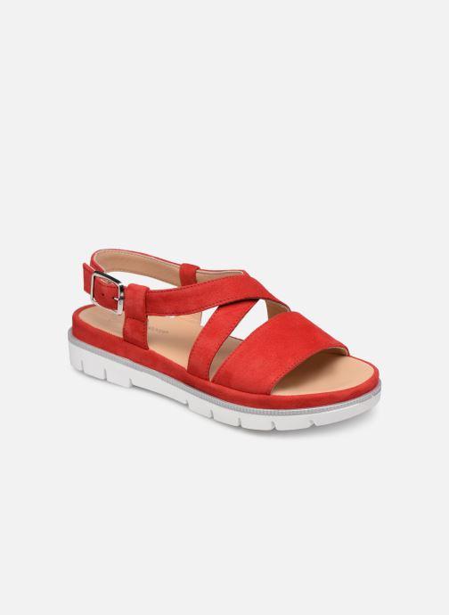 Sandales et nu-pieds Georgia Rose Rocca soft Rouge vue détail/paire