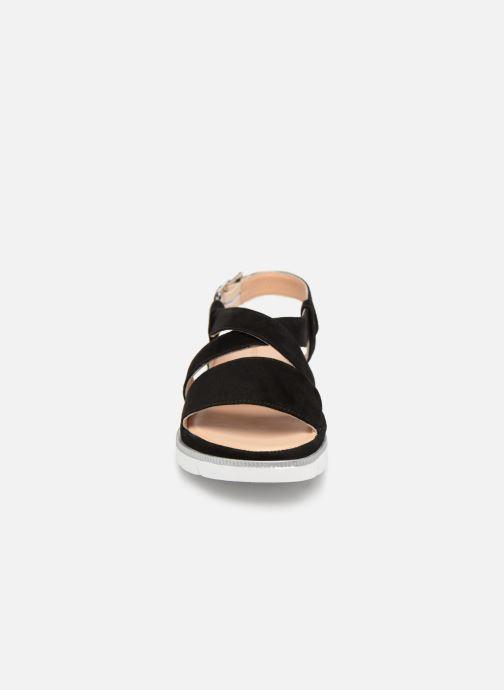 Sandales et nu-pieds Georgia Rose Rocca soft Noir vue portées chaussures