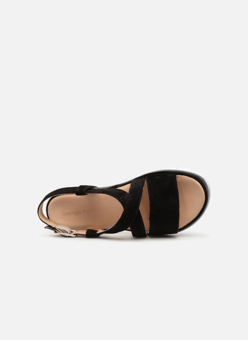 Sandales et nu-pieds Georgia Rose Rocca soft Noir vue gauche