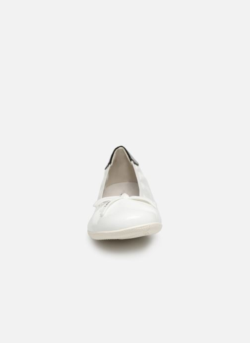Ballerines Les P'tites Bombes ELFIE Blanc vue portées chaussures