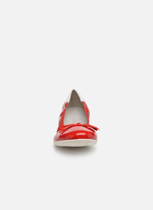 Ballerines Les P'tites Bombes ELFIE Rouge vue portées chaussures