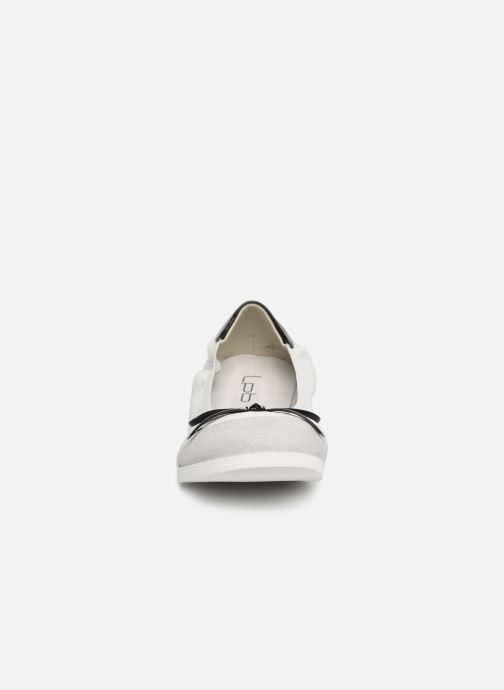 Ballerines Les P'tites Bombes ELOISE Blanc vue portées chaussures