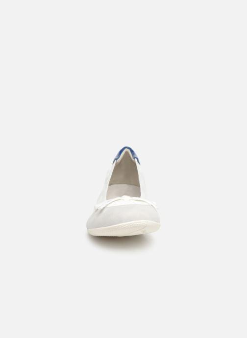 Ballerines Les P'tites Bombes ELSA Blanc vue portées chaussures