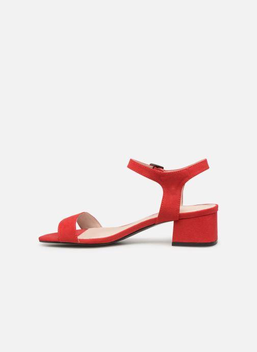 Sandales et nu-pieds Les P'tites Bombes PEGGY Rouge vue face