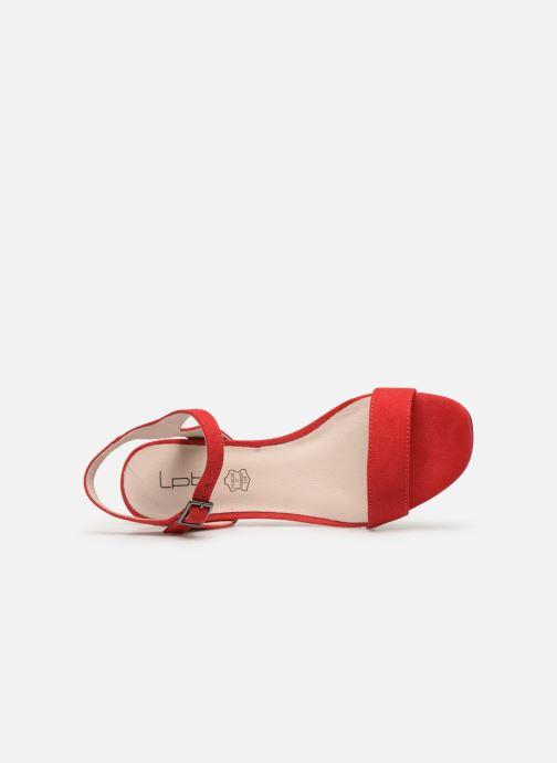 Sandales et nu-pieds Les P'tites Bombes PEGGY Rouge vue gauche