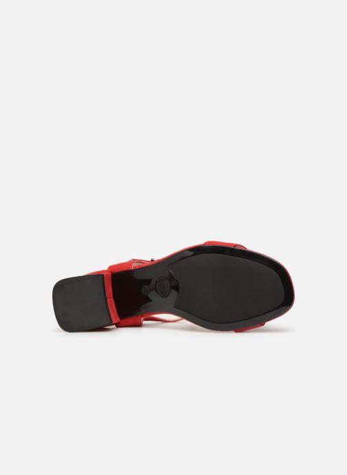 Sandales et nu-pieds Les P'tites Bombes PEGGY Rouge vue haut