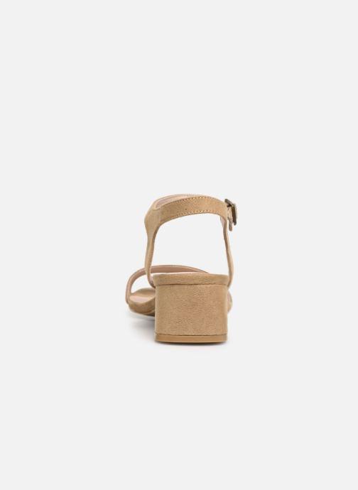 Sandales et nu-pieds Les P'tites Bombes PEGGY Beige vue droite