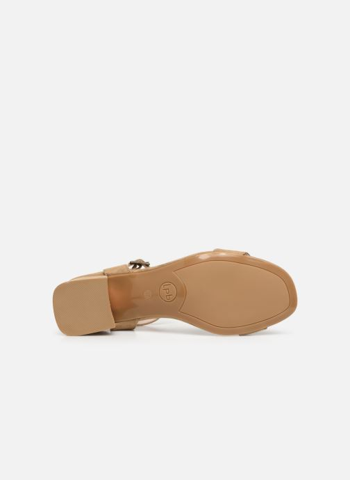 Sandales et nu-pieds Les P'tites Bombes PEGGY Beige vue haut