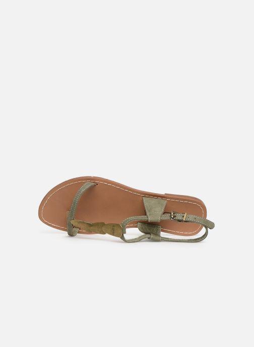 Sandales et nu-pieds Les P'tites Bombes PEPITA Vert vue gauche