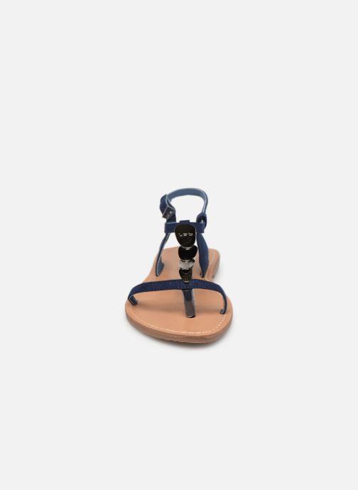 Sandales et nu-pieds Les P'tites Bombes PEPITA Bleu vue portées chaussures