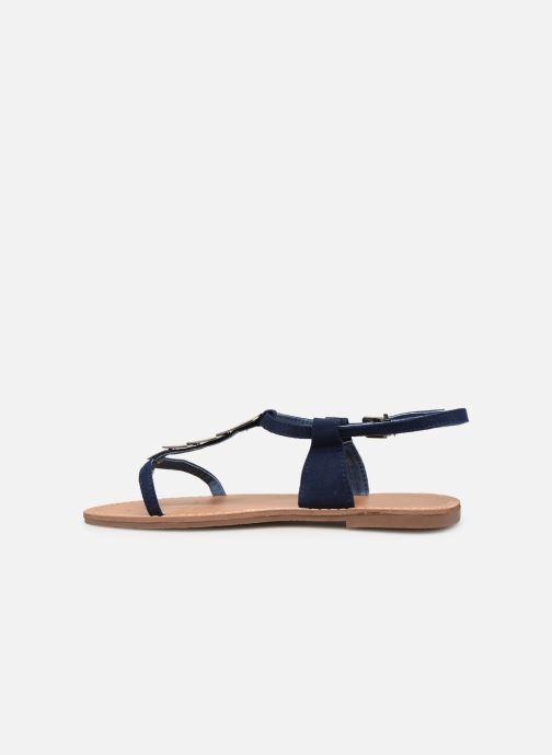 Sandales et nu-pieds Les P'tites Bombes PEPITA Bleu vue face
