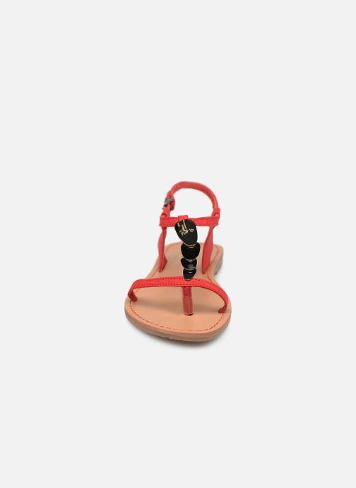 Sandales et nu-pieds Les P'tites Bombes PEPITA Rouge vue portées chaussures